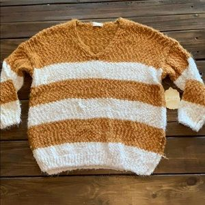 Mustard/Ivory Sweater